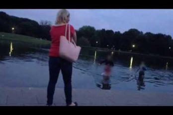 Gruba akcja w parku w Warszawie