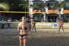 Siatkówka plażowa kobiet. To to co tygryski lubią najbardziej :)