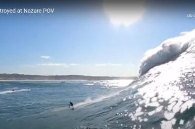 Surfer pokonany przez ogromne fale. Nagranie wideo !!