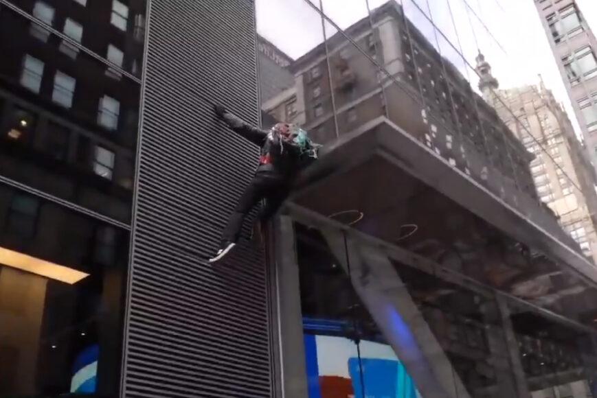 Alpinista zadymiarz przecenił swoje możliwości. Wideo