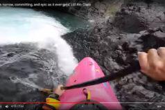 Ekstremalny spływ kajakowy między skałami